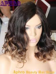 short wave haircut ombre brazilian hair silk top full lace wigs
