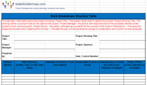 Excel Templates Free Work Breakdown Structure Wbs Excel Template Free