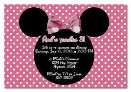 minnie mouse invitations disney invitation wording tinkerbell