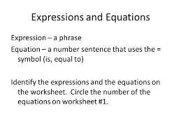 expressions and equations ppt download