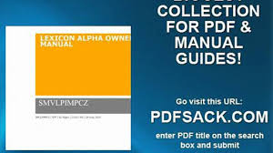 lexicon alpha owners manual video dailymotion