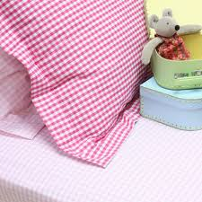 pink gingham girls single ed sheet