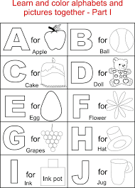 printable alphabet kindergarten alphabet coloring worksheets for kindergarten animal alphabet