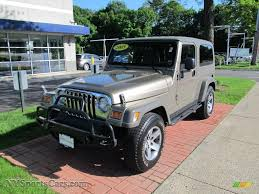 2005 jeep wrangler unlimited rubicon 4x4 in light khaki metallic