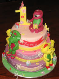 barney birthday cake barney birthday cakes let them eat cake three tier barney cake