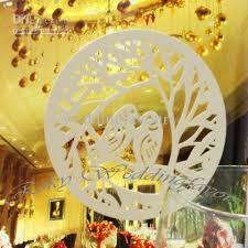 2017 white ivory laser cut love birdwedding place cards glass