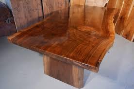 Walnut Slab Table Custom Contemporary Rustic Claro Walnut Slab Table Dumond U0027s