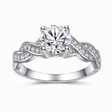 womens engagement rings sterling silver cubic zirconia 1 28ct cut infinity women s