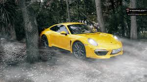 yellow porsche 911 stunning yellow porsche 911 carrera stinger by topcar gtspirit
