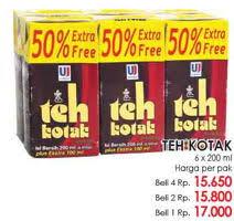 Teh Kotak Sosro 200 Ml Per Dus promo harga teh kotak terbaru minggu ini katalog lottemart hemat id