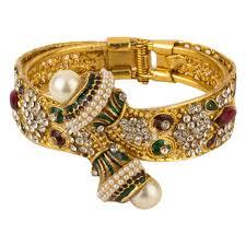 bangle bracelet color gold plated images Youbella multi color antique style gold plated kada bangle for jpg