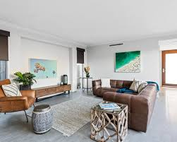 Beach Style Living Room Design Ideas Renovations  Photos - Beach style decorating living room