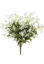 silk baby s breath white silk baby s breath bush artificial flowers afloral