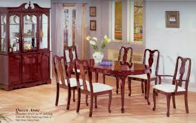 Dining Room Chairs Cherry Cherry Gloss Finish Classic Oval Dining Table W Optional Items