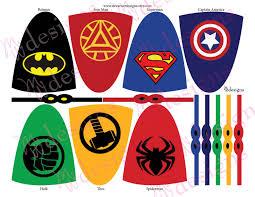 superhero lollipop capes masks superhero party instant