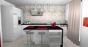 plan cuisine moderne cuisine moderne parement contemporain mobilier laque blanc