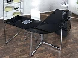 bureau angle verre noir bureau angle verre noir bureau dangle design daniel verre noir