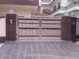 Steel Door Design Main Door Design In Steel With Little Wood Gharexpert