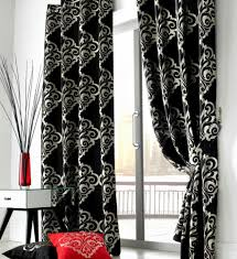 Black Floral Curtains Livingroom Curtains For Black And White Living Room Decorations