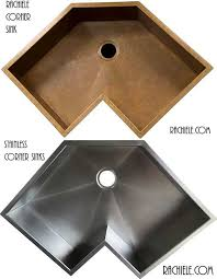 Corner Sinks For Kitchens by Custom Copper And Stainless Sinks For The Kitchen And Bathroom