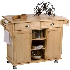 real simple rolling kitchen island in white rollin south kitchen