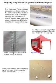 Steel Pop Up Gazebo Waterproof by Amazon Com Quictent Waterproof 10x10 U0027 Ez Pop Up Canopy Gazebo