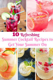 summer cocktail recipes to get your summer on pool parties