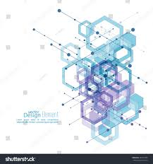 abstract neat background transparent cubes hexagons stock vector