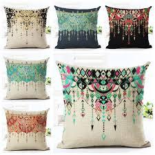 taie d oreiller pour canapé scandinave décor imprimé rideau motif housse de coussin vintage