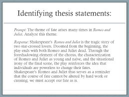 theme of fate in romeo and juliet essay verb tenses the writing center romeo and juliet tragedy thesis