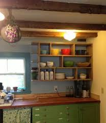 Replace Kitchen Cabinets With Shelves by Our Open Kitchen Cabinets Got A Face Lift Turquoise Chevron