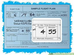 file faa flight plan pictures wikihow