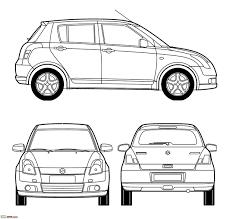 blueprints line drawings of cars team bhp