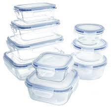 amazon com glass food storage container set bpa free use for