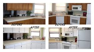 cabinet before and after small kitchen remodels painted cabinets