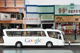 sf artists create online gallery of google shuttle bus art other