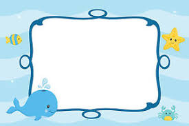 Blank Invitations 30 Cards Under Sea Blank Invitations Thank You Note Baby Boy