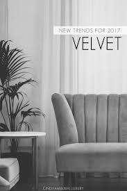 home decor trends for fall velvet