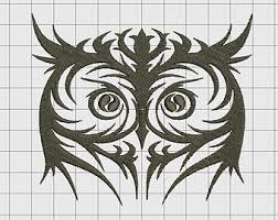 tribal owl tattoo etsy