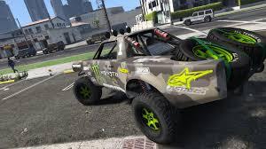 trophy truck semi transparent monster camo color gta5 mods