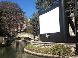 Backyard Movie Theatre by Outdoor Movie Venues Slab Cinema Outdoor Movies San Antonio Tx