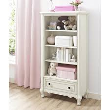 White Bookcase With Drawer by Bertini Baby Tinsley Bookcase