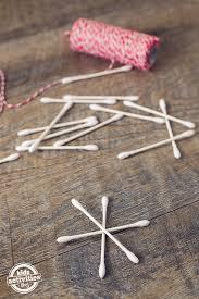 q tip snowflake ornaments