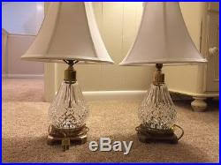 Waterford Table Lamps Pair Of Waterford Irish Crystal Vintage Cut Glass 18 Electric