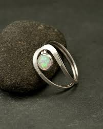 Handcrafted Sterling Silver Jewellery - opal ring silver opal ring white opal ring opal gemstone
