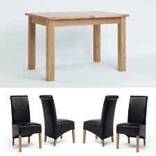 Bedroom Furniture Glasswells Oak Table With Bench And Chairs Oak Table With Black Chairs Oak