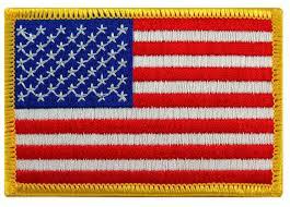 amazon black friday us amazon com american flag embroidered patch gold border usa united
