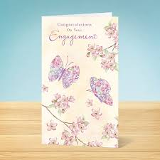 Congratulations Engagement Card Engagement Card Engagement Butterfly Garlanna Greeting Cards