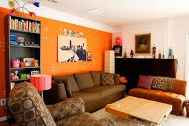 Orange And Brown Home Decor Spectacular Brown And Orange Living Room Ideas 74 To Your Home
