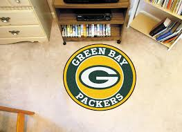 Yellow Round Area Rugs Bay Packers Logo Roundel Mat 27